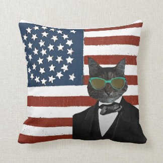 Cool cat pillows decorative throw pillows zazzle for Cool couch pillows