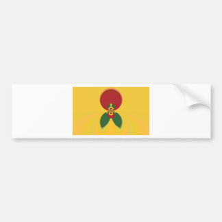 Vintage COOL CUTE RETRO Jamaicans Raster Gift Colo Bumper Sticker