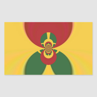 Vintage COOL CUTE RETRO Jamaicans Raster Gift Colo Rectangular Sticker