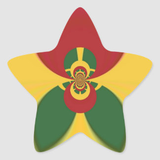 Vintage COOL CUTE RETRO Jamaicans Raster Gift Colo Star Sticker