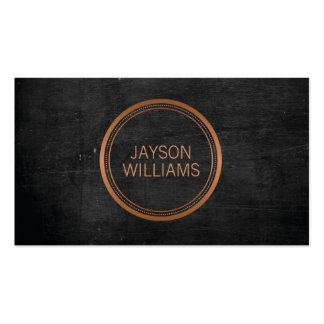 Vintage Copper Circle Personal Business Card