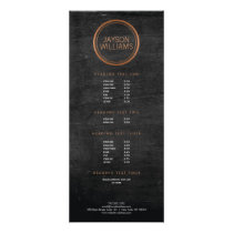 Vintage Copper Circle Rack Card
