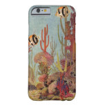 Vintage Coral and Tropical Angelfish Fish in Ocean Barely There iPhone 6 Case
