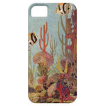 Vintage Coral and Tropical Angelfish Fish in Ocean iPhone SE/5/5s Case