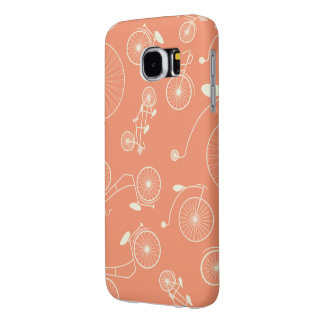 Vintage Coral Day in the Park Bicycle Samsung Galaxy S6 Case
