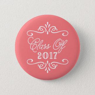 Vintage Coral | Graduation Pinback Button