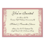 Vintage Coral Rose Anniversary Invitations