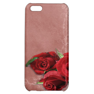 Vintage Coral Rose Cover For iPhone 5C
