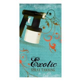 Vintage coralino del moreno del aerosol de la turq tarjeta de negocio