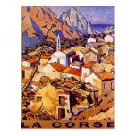 Vintage Córcega, Francia - Tarjeta Postal