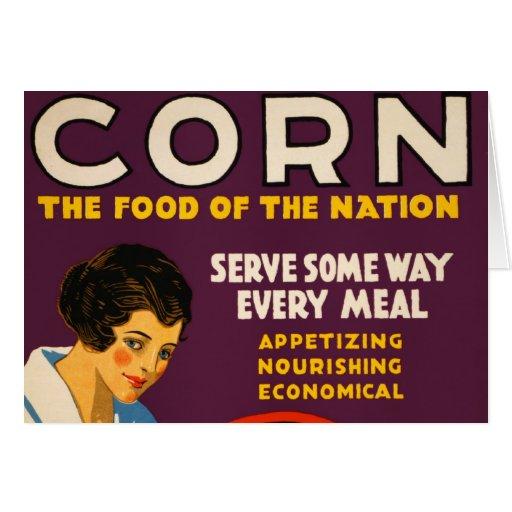 Vintage Corn Poster Card
