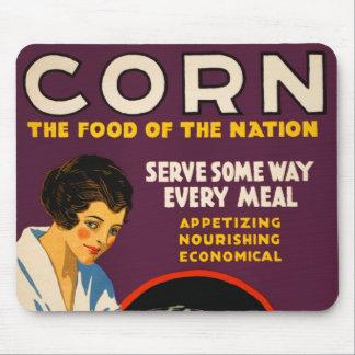 Vintage Corn Poster Mouse Pad