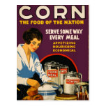 Vintage Corn Poster Post Cards