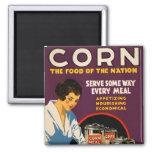Vintage Corn Poster Refrigerator Magnet