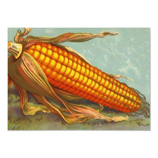 Vintage Corn Shucking Ear Blank Invitations Design