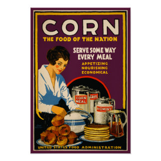 Vintage 'Corn - The food of the nation' Poster