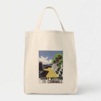 Vintage Cornwall Western Canvas Bags