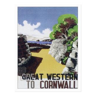 Vintage Cornwall Western Postcard