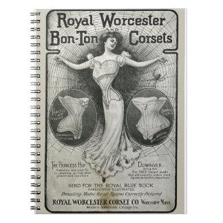 Vintage Corset Ad Notebook