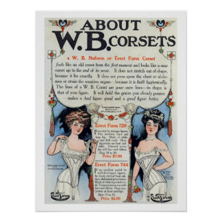 Vintage Corset Ad Print 4 Poster