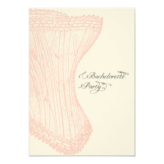 Vintage Corset Bachelorette Party Invitation