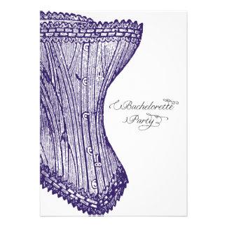 Vintage Corset Bachelorette Party Invitation