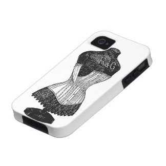 Vintage Corset dress form Case-Mate iPhone 4 Covers
