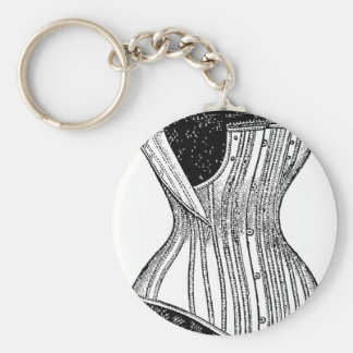 Vintage Corset dress form Keychain