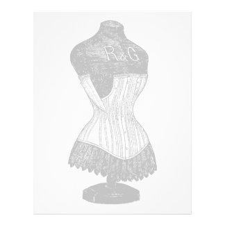 Vintage Corset dress form Letterhead