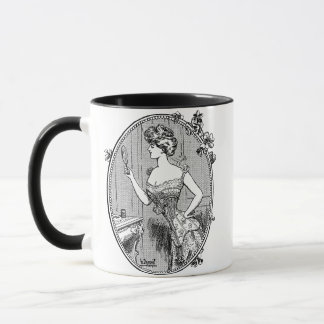Vintage Corset Lady Mug