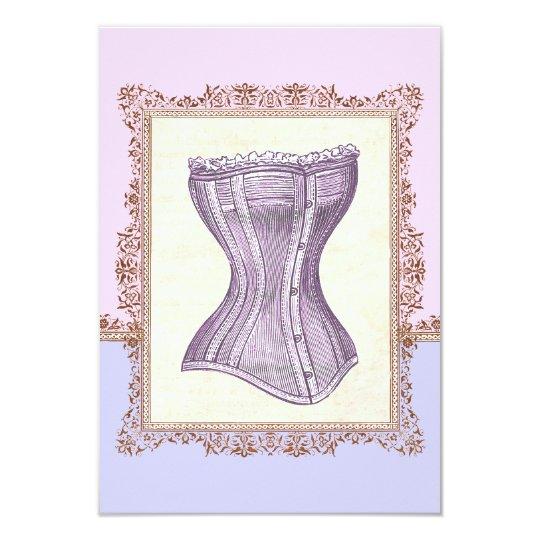 Vintage Corset Lingerie Victorian Bridal Shower Card