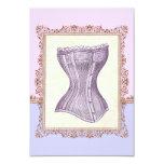 Vintage Corset Lingerie Victorian Bridal Shower 3.5x5 Paper Invitation Card