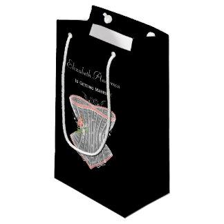 Vintage Corset Personal Lingerie Bridal Shower Small Gift Bag