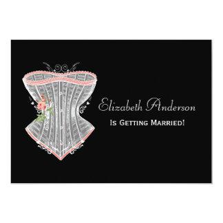 Vintage Corset Personal Lingerie Bridal Shower 5x7 Paper Invitation Card