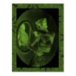 Vintage corsets,Looking in the mirror, pine Postcards