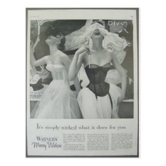 Vintage corsets, Warfners Merry Widow Postcard