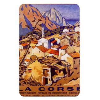 Vintage Corsica, France - Rectangular Photo Magnet