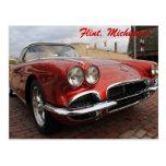 Vintage Corvette Postcard