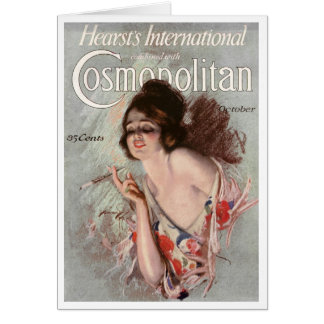 VINTAGE COSMO TREND-SETTER COVERART  GREETING CARD