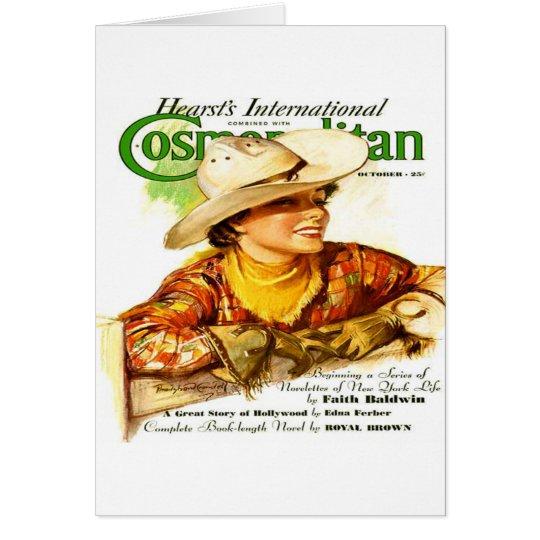 Vintage Cosmopolitan Magazine Cover (Cowgirl) Card