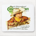 Vintage Cosmopolitan Magazine Cover (Cowgirl) Mouse Pads