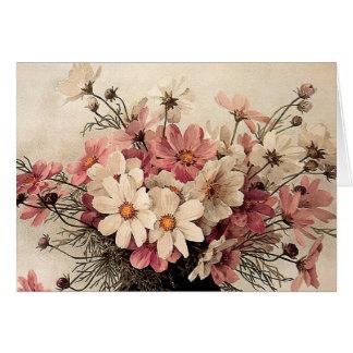 Vintage Cosmos Bouquet Cards