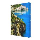 Vintage costa de Italia, Amalfi Impresiones En Lona