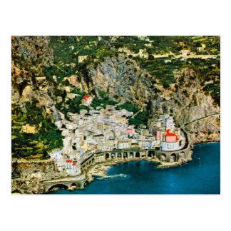 Vintage costa de Italia, Amalfi Tarjeta Postal