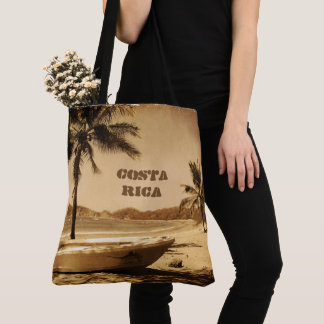 Vintage Costa Rica Beach Tote Bag
