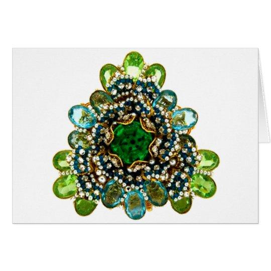 Vintage Costume Jewelry Rhinestones Diamonds Card