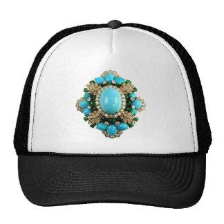 Vintage Costume Jewelry Rhinestones Diamonds Mesh Hats