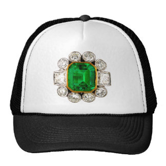 Vintage Costume Jewelry Rhinestones Diamonds Trucker Hat