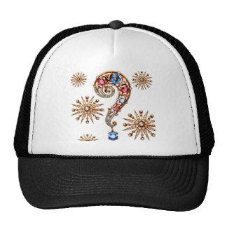 Vintage Costume Jewelry Rhinestones Diamonds Trucker Hats