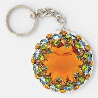 Vintage Costume Jewelry Rhinestones Diamonds Keychain